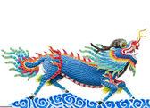 çince style mavi ejderha heykeli — Stok fotoğraf