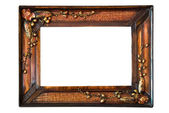 Isolated wooden Photo Frame — Стоковое фото