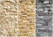 Pattern of stone wall surface — Stock Photo