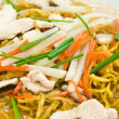 Rat-na,Yellow noodle and pork — Stock Photo