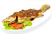 Fried snapper with chili sauce — Stock Photo