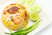 Fried rice with shrimp — Stock Photo