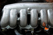 Close up part of car engine — Stock Photo
