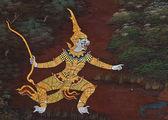 传统的泰式风格绘画艺术的杰作 — 图库照片