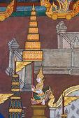 Meisterwerk der traditionellen thai-stil-malerei-kunst — Stockfoto