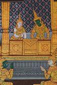 шедевр искусства традиционного тайского стиля живописи — Стоковое фото