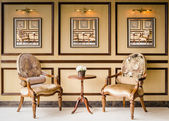 Klassisk stil vintage trä stol — Stockfoto