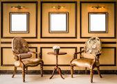 классический стиль старинный деревянный стул — Стоковое фото