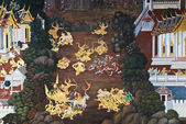 Obra maestra del arte de la pintura tradicional estilo tailandés — Foto de Stock