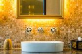 Interior design of a bathroom — Stock Photo