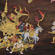 Masterpiece of traditional Thai style painting art — Stock Photo