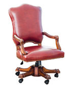 Vintage style red leather chair — 图库照片