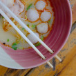 Pork noodle soup. — Stock Photo