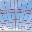 Steel roof trusses — Stock Photo #35295625