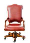 Vintage style red leather chair — Stock Photo