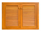 Wood windows of cabinet — Foto Stock