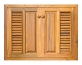 Wood windows of cabinet — Stock Photo