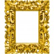 Gold photo image frame — Stock Photo