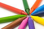 Wax crayons — Stock Photo