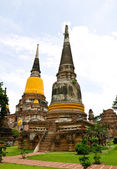 Old temple at Ayutthaya, Thailand. — Stock Photo