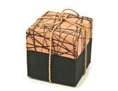 Brown fabric box — Foto Stock