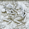 Masterpiece of traditional Thai style stucco — Stock Photo #35343567