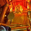 Golden Buddha statue in temple — Stock Photo