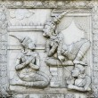 Masterpiece of traditional Thai style stucco — Stock Photo #35348467
