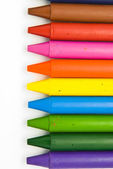 Wax crayons on white background — Stock Photo