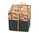 Brown fabric box — Stock Photo