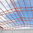 Steel roof trusses — Stock Photo #35351235