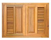 Wood windows of cabinet — Stock Photo