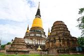 Old temple at Ayutthaya, Thailand. — Stock Photo