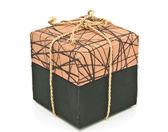 Brown fabric box — Foto de Stock
