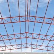 Steel roof trusses — Stock Photo