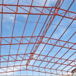 Steel roof trusses — Stock Photo #35362827