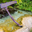 An Ascetic is name of beautiful spring pool — Stock Photo