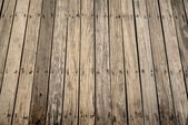 Pattern of old wooden bridge floor — Stock Photo