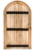 Wood arch door — Stock Photo