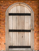 Wood arch door — Stock Photo