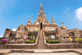 Old Temple at Wat Yai Chai Mongkol — Stock Photo