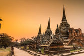 Old Temple at Wat Phra si sanphet  — Stock Photo