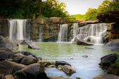 Natural View of Waterfall in Tadton National Park — Stock Photo