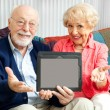 Senior Couple with Message for You — Stock Photo #11633256