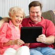 Mother and Son Using Tablet PC — Stock Photo #11633263