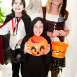 Stock Photo: Three Children - Trick or Treat