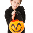 Cute Little Boy on Halloween - Stock Photo