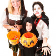 Stock Photo: Halloween Trick Or Treaters Isolated