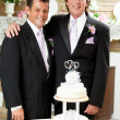 Wedding Reception - Two Grooms — Stock Photo