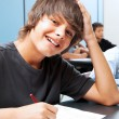 Stock Photo: Smiling School Boy